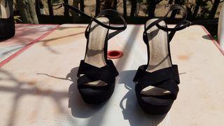 zapatos terciopelo como nuevos talla 39
