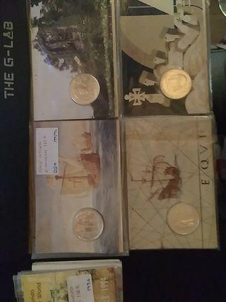 Serie de 4 monedas de Portugal de plata.