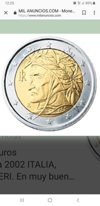 moneda 2 euros dante francesa