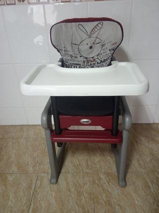 Trona Jane convertible en silla y mesa