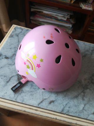 casco oxelo rosa ajustable