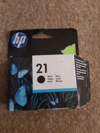 Tinta HP negra sin abrir