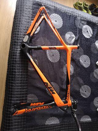 cuadro bicicleta carbono carretera