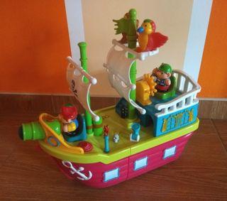 Barco pirata con animales y sonidos