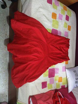 falda rociera flamenca