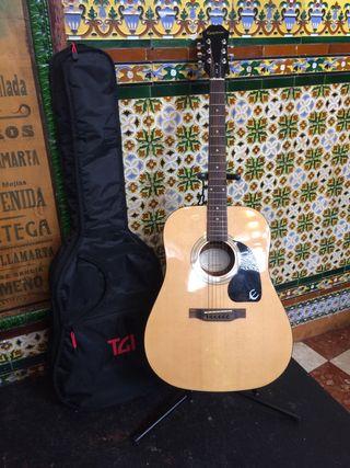 Guitarra nueva del paquete , soporte y funda