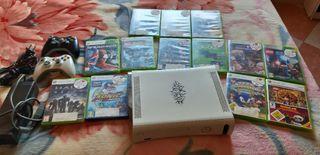 vendo consola Xbox 360 con dos controles y juegos