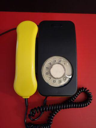 Antiguo teléfono citesa de Málaga. Raro de color a