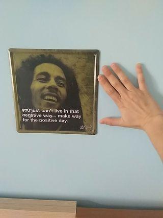 Placa metálica Bob Marley