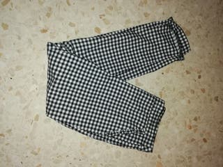 Pantalón cuadros Vichy Zara