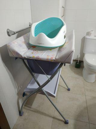 bañera y soporte para bañera