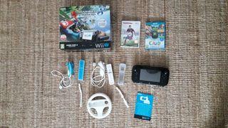 Wii U + 2 mandos+ volante + 3 juegos