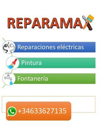 REPARACIONES PINTURA FONTANERIA ELECTRICIDAD