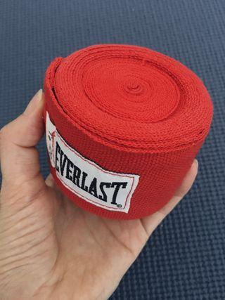 Everlast Boxing Cintas Nuevo Rojo Championship