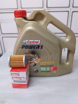 aceite con filtro de aceite yamaha xmax 400