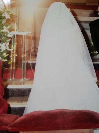 Vestido de novia T. 42, Cancan y Velo
