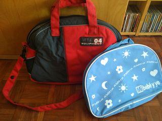 Dos bolsos para carrito bebé
