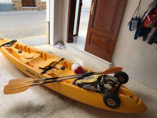 Kayak 2 plazas + 1 niño/a