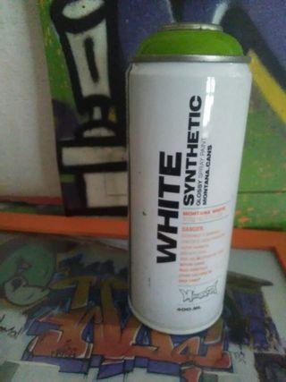 bote lata spray montana cans White