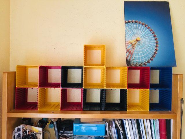15 soportes para CDs apilables