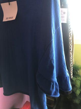 ZARA blusa azul