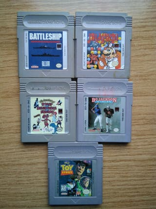 Lote 5 juegos Gameboy: Dr. Mario, Battleship...