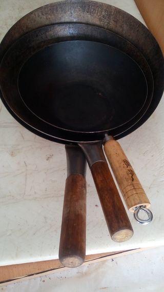 Trio de sartenes wok