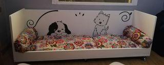 Preciosa y esclusiva cama/sofá para mascotas