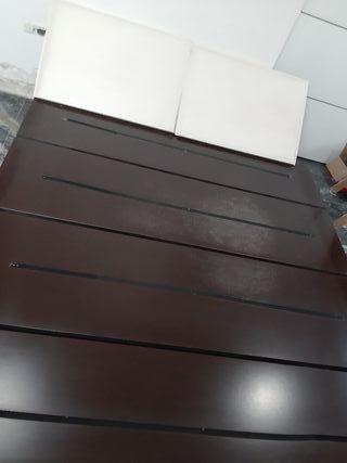 cama tipo tatami en color Wengue .
