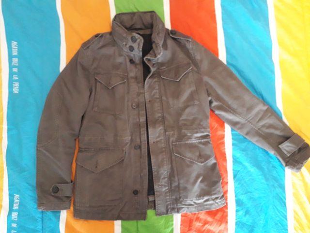 chaqueta de invierno estilo militar zara man