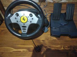 Volante y pedales Ferrari