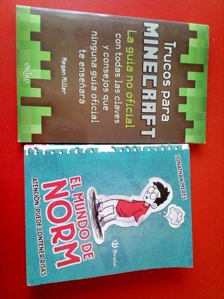 Libro de Minecraft mas libro de regalo