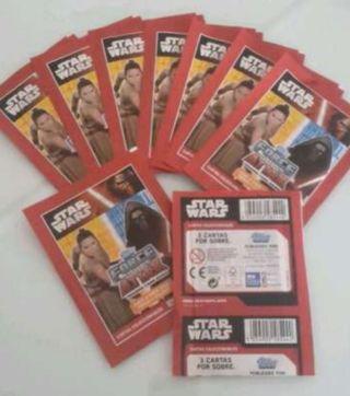 Cromos Star Wars sin abrir. 9 sobres