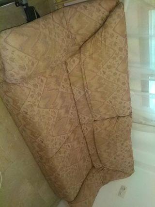 Sofa + puf en buenas condiciones
