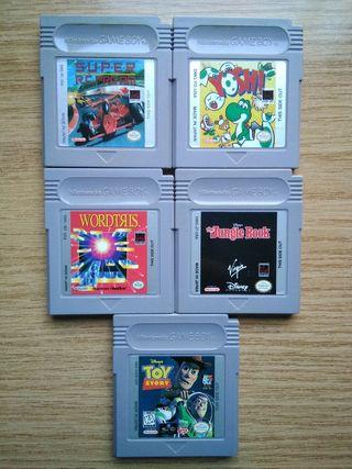 Lote 5 juegos Gameboy: Yoshi, Jungle Book...