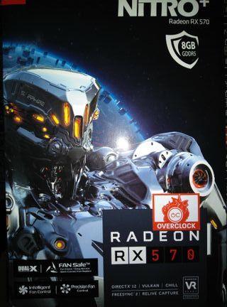 Tarjeta gráfica RX 570 Nitro+ 8Gb