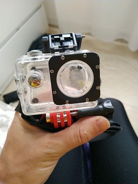 cámara deportiva 1080 con carcasa