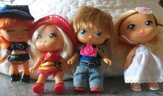 muñecas desde 4€ cada una.