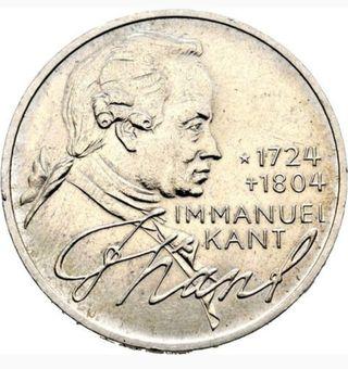 moneda del 1974 de Alemania 5 mark plata
