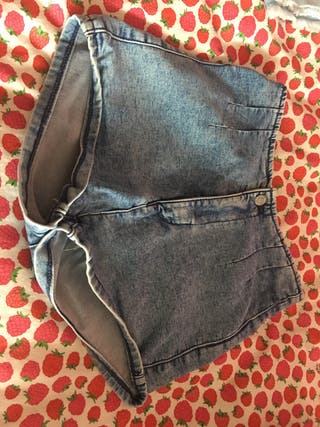Pantalon corto alto para chicas