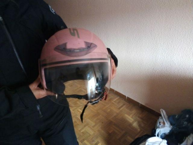 casco moto chica