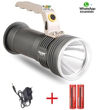 Linterna LED recargable camping vigilancia