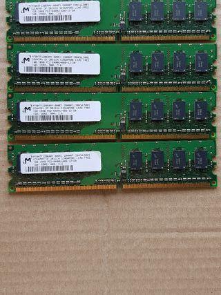 memoria RAM 4x1gb