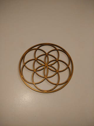 Semilla de la flor de la vida en dorado
