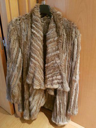 Chaqueta abrigo piel pelo de conejo