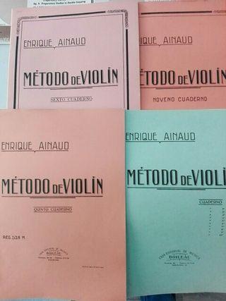 Método de violín Enrique Ainaud. 4,5,6,9
