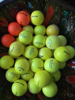 25 bolas golf amarillas