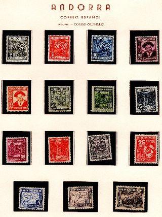Magnifica Colección de Andorra ESP Periodo 1946/20