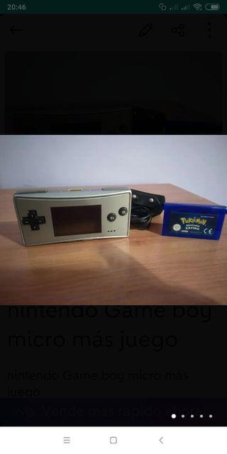 nintendo Game boy micro más juego