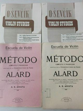 Métodos estudios violín. Allard y Sevcik